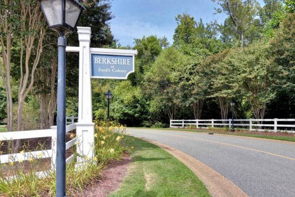Berkshire at Fords Colony Sign